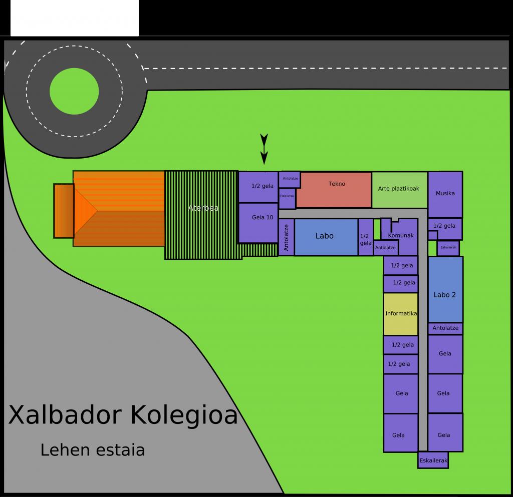 Xalbador kolegioa - lehen-estaia