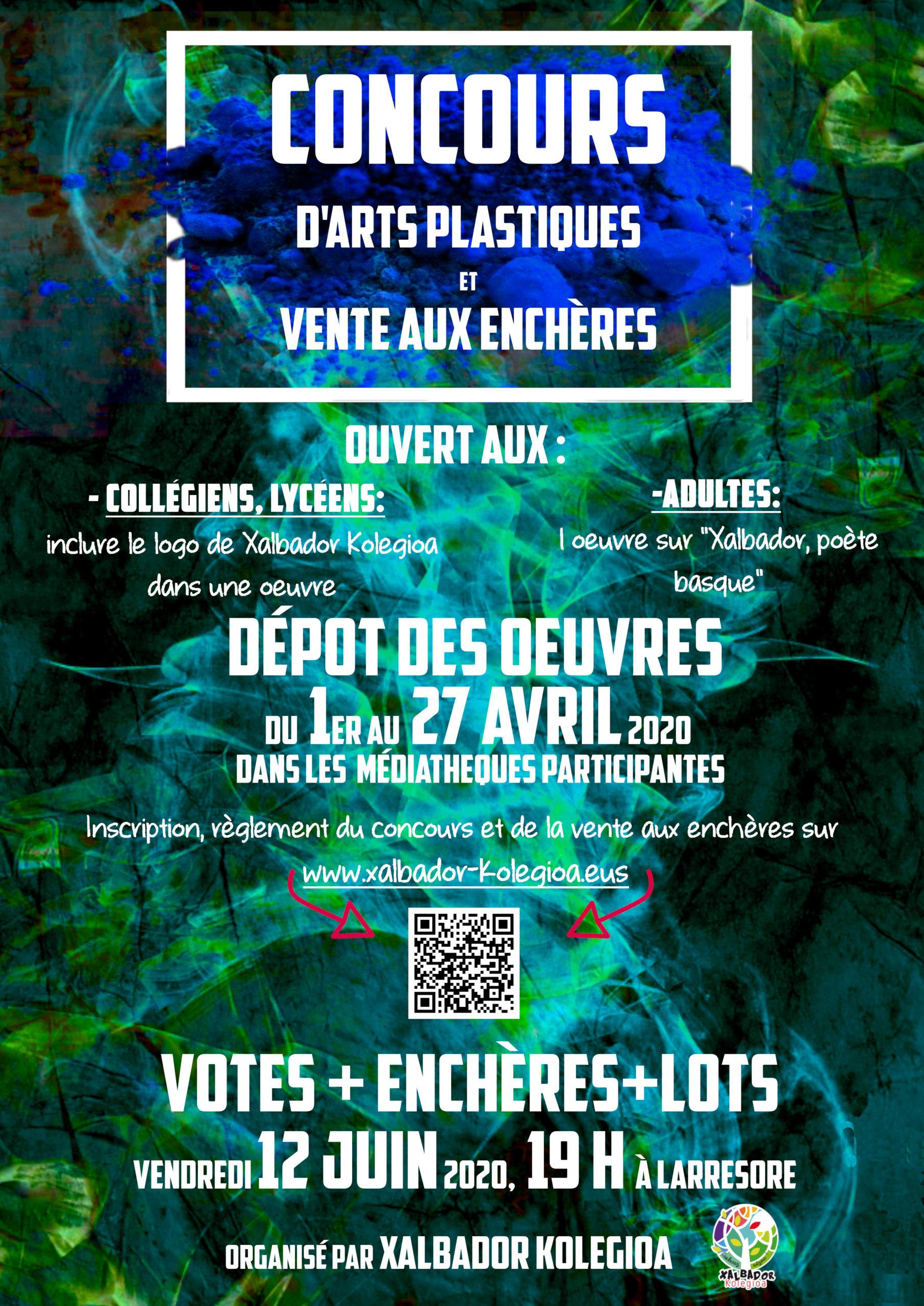 affiche enchere concours arts plastiques